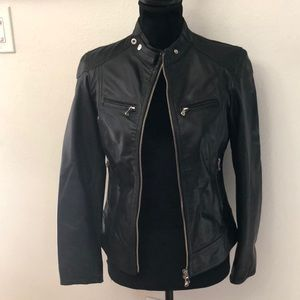 Jackets & Blazers - Purchased in Italy brand new black leather jacket